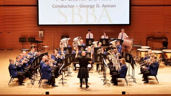 Perthshire Brass performing at the 2019 Scottish Championships